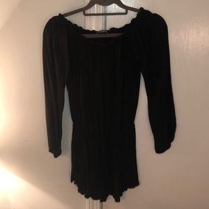 Brandy Melville off the shoulder, black romper